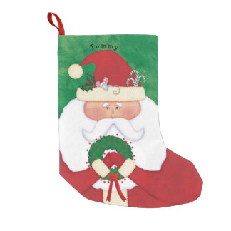 Christmas Eve Santa Personalized Small Christmas Stocking