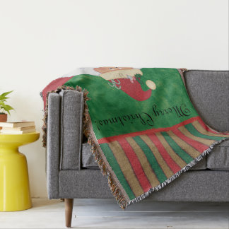 Christmas Eve Santa Throw Blanket
