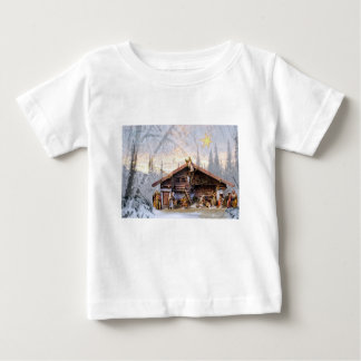 Christmas eve story decoration house baby T-Shirt