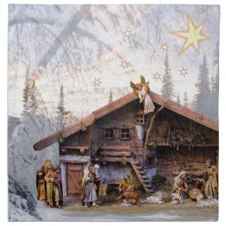 Christmas eve story decoration house napkin