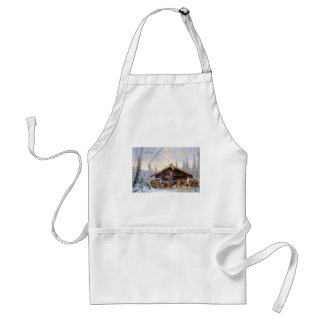 Christmas eve story decoration house standard apron