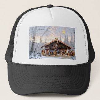 Christmas eve story decoration house trucker hat
