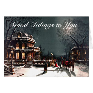 Christmas Eve Tidings 1880 Card