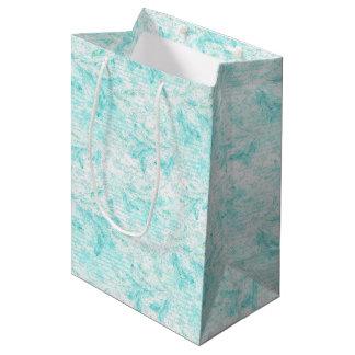 Christmas evergreen leaves medium gift bag