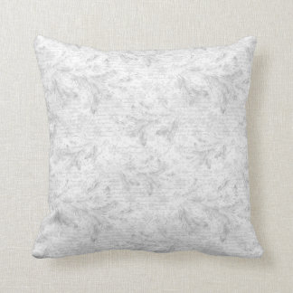 Christmas evergreen leaves throw pillow