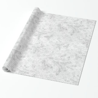 Christmas evergreen leaves wrapping paper