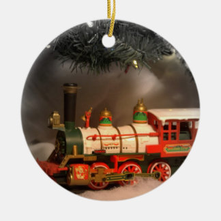 Christmas Express Train Ceramic Ornament