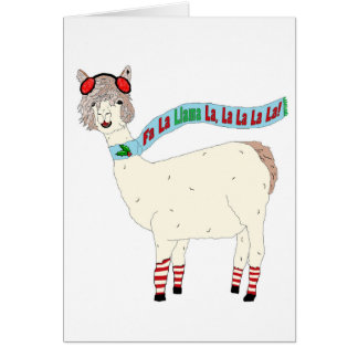 Christmas Fa La Llama La La La La La Card