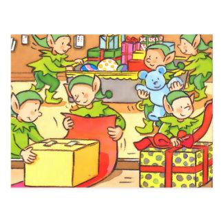 Christmas Factory Postcard