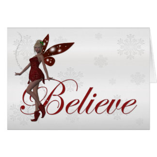 Christmas Faerie Believe 3 - Holiday Greeting Card