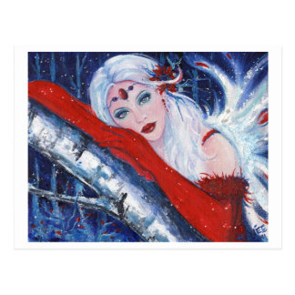 Christmas Fairy wisher postcard By Renee Lavoie
