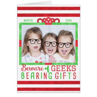 Christmas Family Holiday Photo | Funny Geeks Card