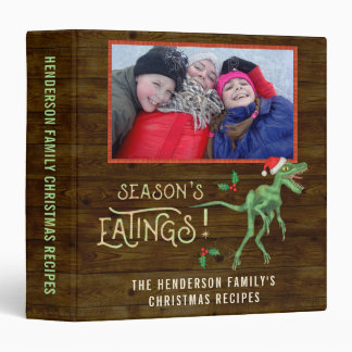 Christmas Family Photos Funny Velociraptor Recipes Binder