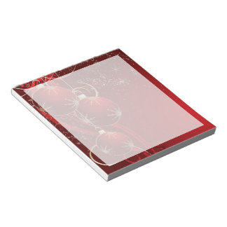 Christmas Fantasy Red Notepad