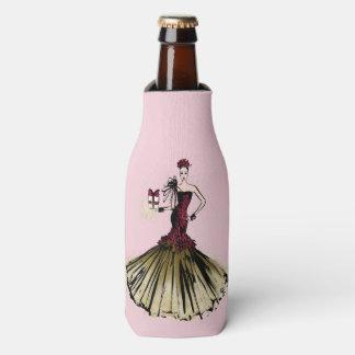 Christmas Fashion Illustration with parcel Bottle Cooler