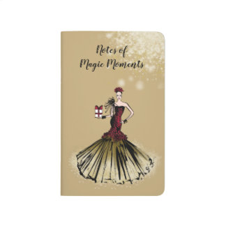 Christmas Fashion Illustration with parcel Journal