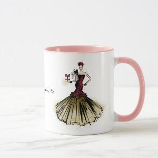Christmas Fashion Illustration with parcel Mug