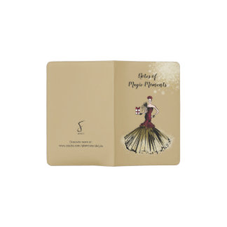 Christmas Fashion Illustration with parcel Pocket Moleskine Notebook