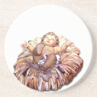 Christmas favor Baby Jesus in Bethlehem Coaster