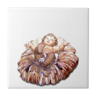 Christmas favor Baby Jesus in Bethlehem Tile