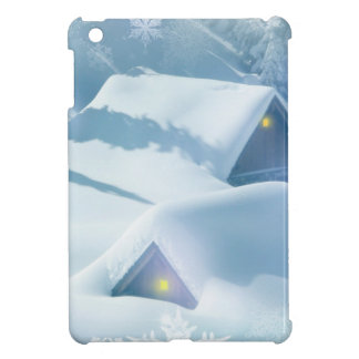 christmas favor snowing houses case for the iPad mini