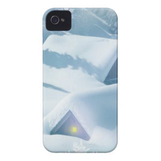 christmas favor snowing houses iPhone 4 cases
