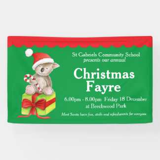 Christmas fayre red green event banner