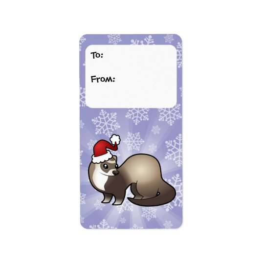 Christmas Ferret Gift Tags