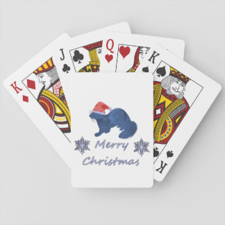 Christmas Ferret Playing Cards