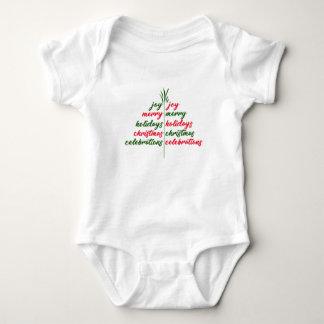 Christmas-Festive-Tree Baby Bodysuit