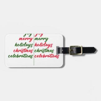 Christmas-Festive-Tree Luggage Tag