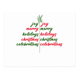 Christmas-Festive-Tree Postcard