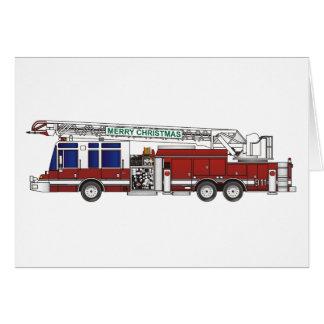 Christmas Fire Truck Card
