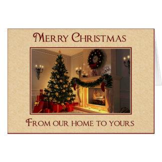 Christmas Fireplace Card
