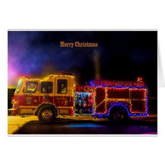 Christmas Firetruck Card