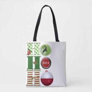 Christmas Fishing Tote Bag