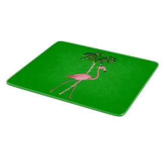 Christmas Flamingo Cutting Board