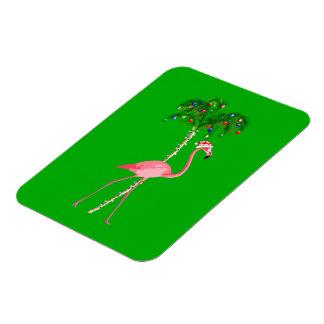 Christmas Flamingo Magnet