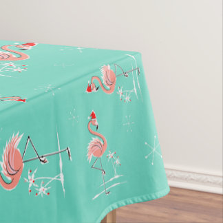 Christmas Flamingo Multi large pattern Tablecloth