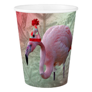 Christmas Flamingo Paper Cup, 9 oz Paper Cup