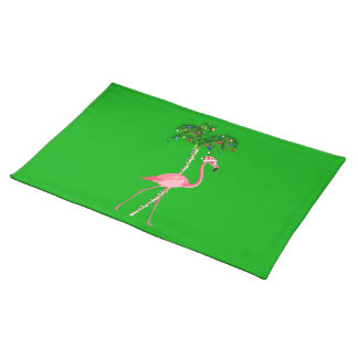 Christmas Flamingo Placemat