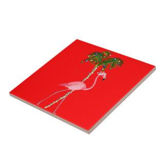Christmas Flamingo Tile