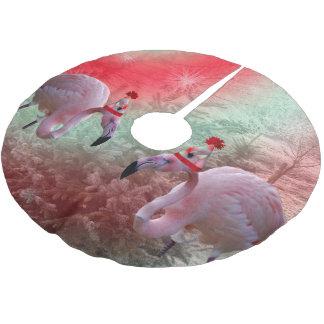 Christmas Flamingo Tree Skirt