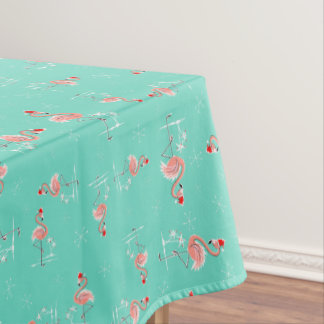 Christmas Flamingo Twist small pattern Tablecloth