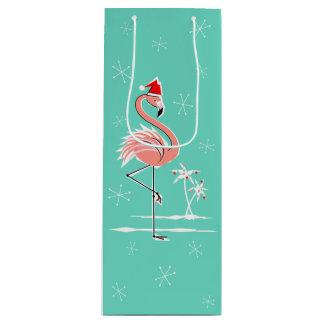Christmas Flamingo wine gift bag