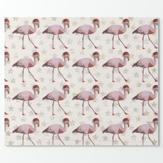 CHRISTMAS FLAMINGO Wrapping Paper