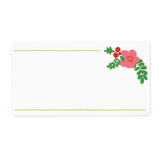Christmas Flora Labels