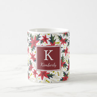 Christmas Floral Pattern Personalized Mug