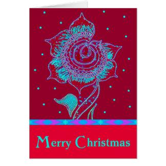 Christmas flower card