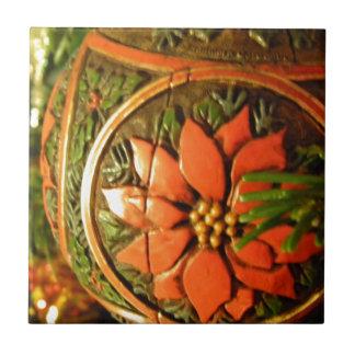 Christmas Flower Ceramic Tile
